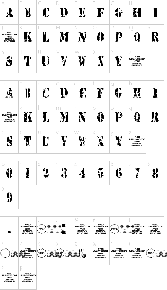 4YEOstamp Schriftart Font Download Kostenlos