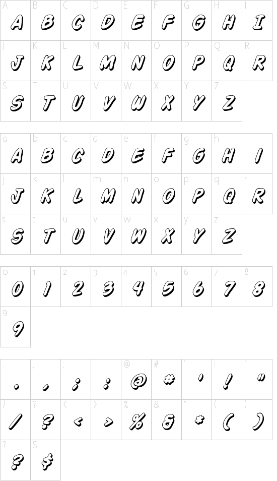 Action Man Shaded Schriftart Font Download Kostenlos