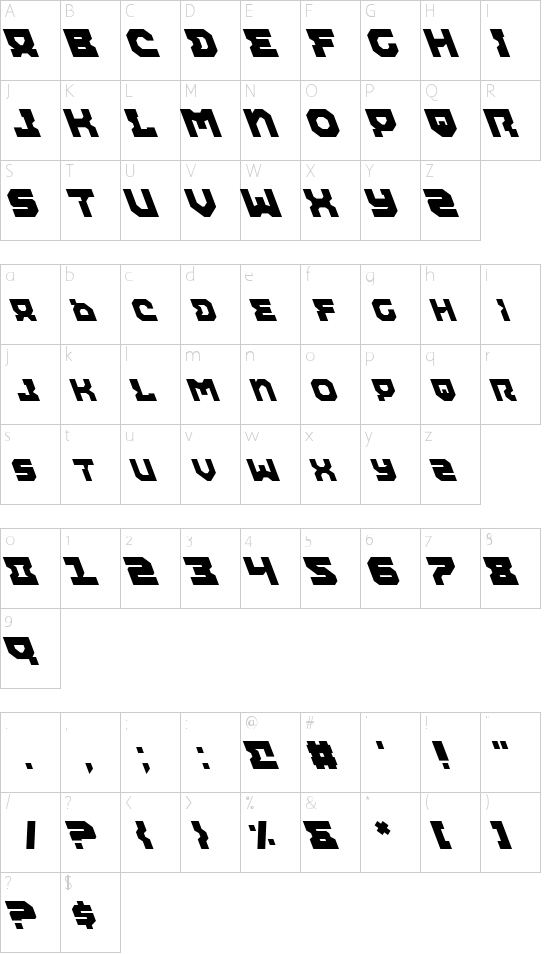 Airacobra Leftalic Schriftart Font Download Kostenlos
