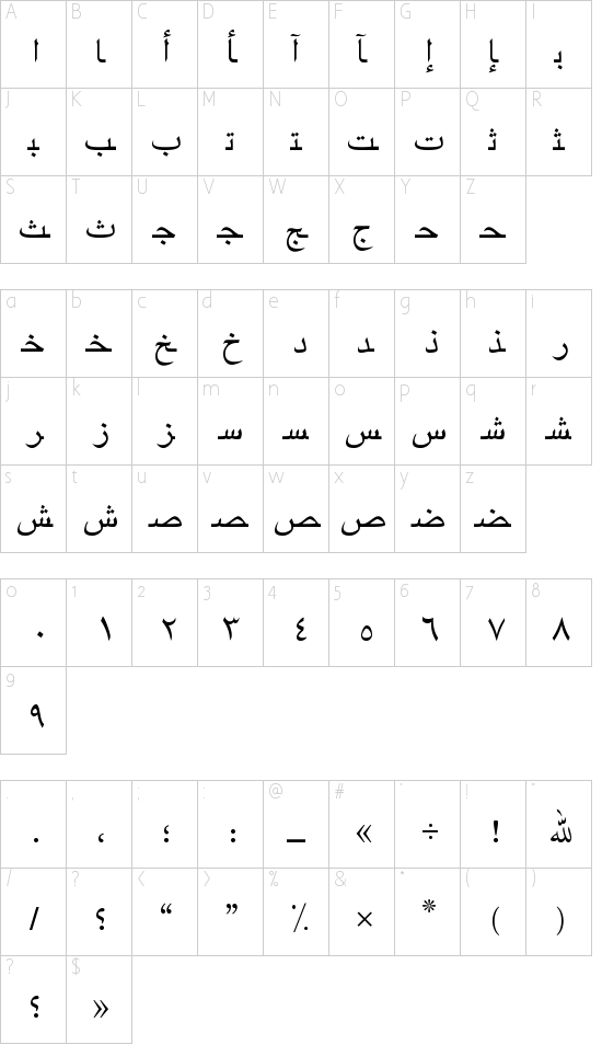 ArabicNaskhSSK Schriftart Font Download Kostenlos