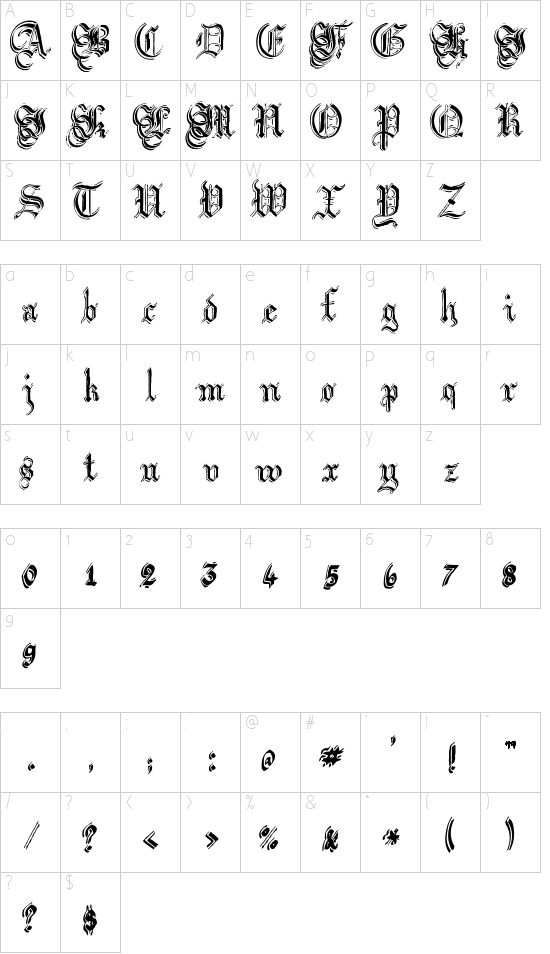 Argor Got Scaqh Schriftart Font Download Kostenlos