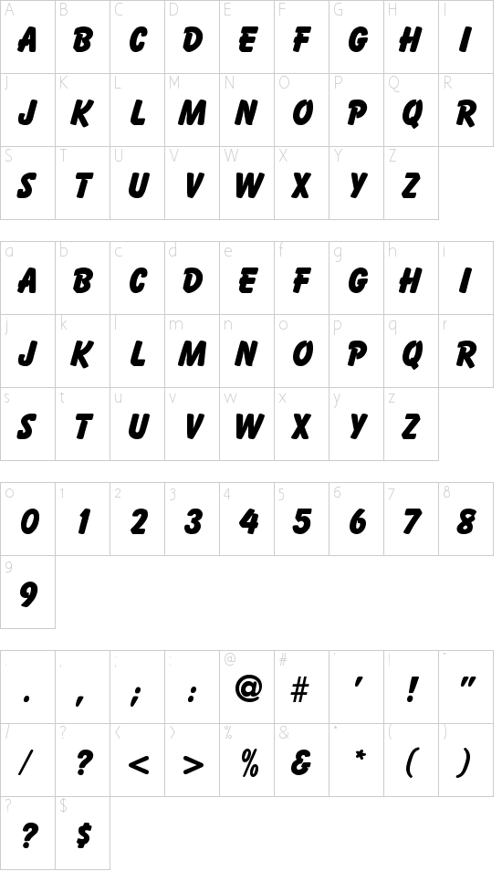 Bazooka Schriftart Font Download Kostenlos