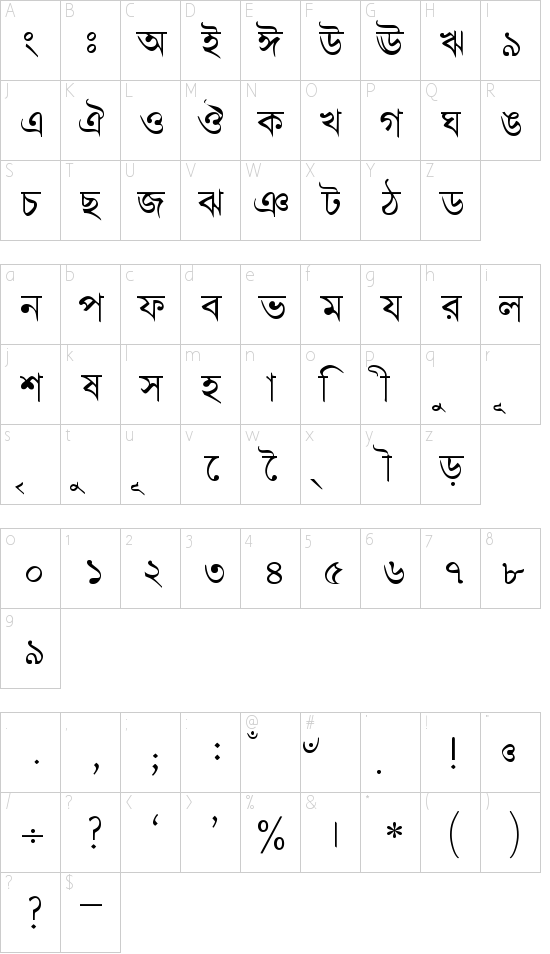 BengaliDhakaSSK Schriftart Font Download Kostenlos