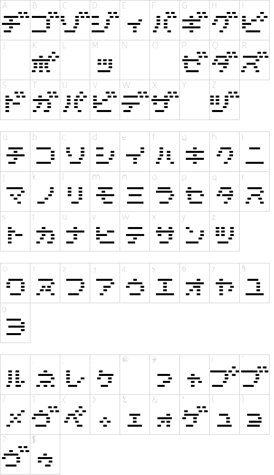 D3 DigiBitMapism Katakana Thin Schriftart Font Download Kostenlos