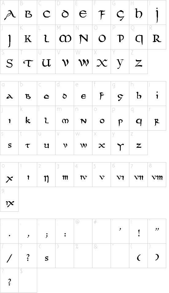 DS UncialFunnyHand Schriftart Font Download Kostenlos