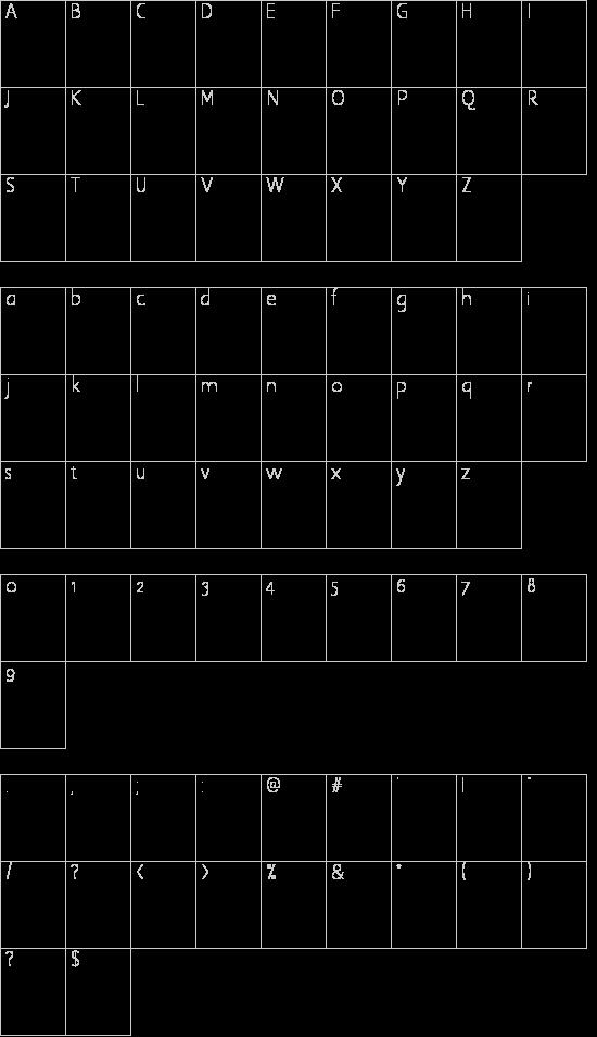 FiftiesHollow Schriftart Font Download Kostenlos