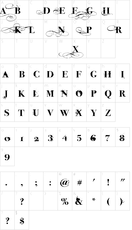 iNked God Schriftart Font Download Kostenlos