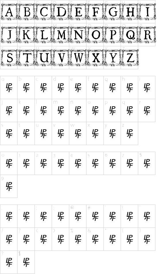 QuaNauticale_Initials_No1 Schriftart Font Download Kostenlos