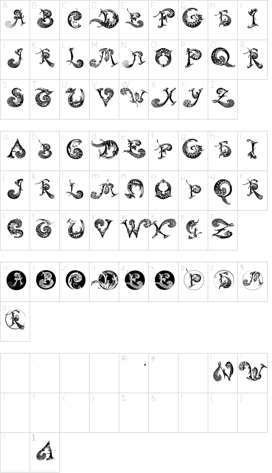 SchnoerkelCaps Schriftart Font Download Kostenlos