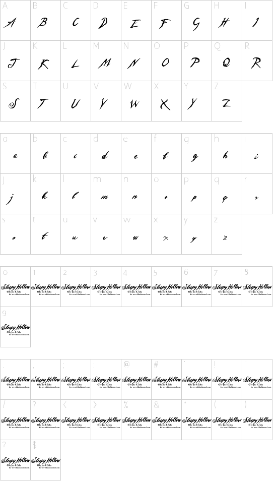 Sleepy Hollow 2.0 Schriftart Font Download Kostenlos